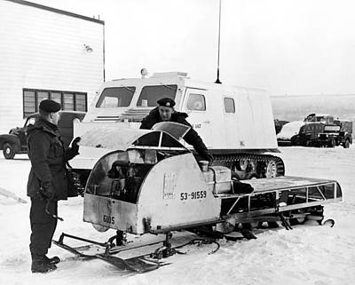 Snowmobile Photograph - Canada's Military Excercise by Underwood Archives