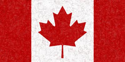 Flags Photograph - Canadian Flag Batik by Kurt Van Wagner