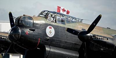 Areoplanes Photograph - Canadian Lancaster Bomber by Stephen Taylor