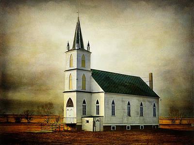 Zion Lutheran Church Photograph - Canadian Prairie Heritage by Blair Wainman