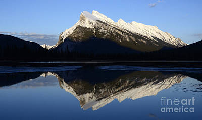 Canadian Rockies Mount Rundle 1 Print by Bob Christopher