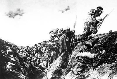 Trenches Photograph - Canadian Troops Training by Us Air Force