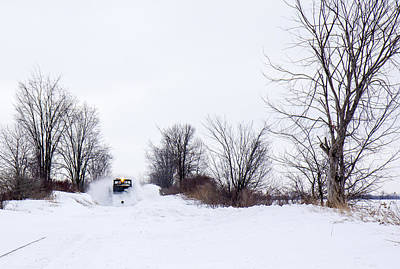 Train In The Winter Photograph - Canadian Winter On The Rails by Nick Mares