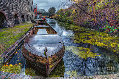 Canals Digital Art - Canal Boat by Adrian Evans