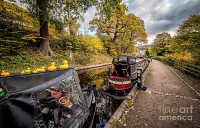 Llangollen Digital Art - Canal Ducks by Adrian Evans