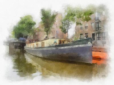 Canal Houseboat Print by Rick Lloyd