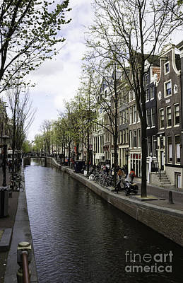Three Little Kittens Designs Photograph - Canal In Amsterdam by Teresa Mucha