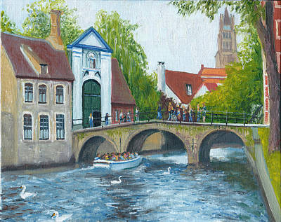 Canal In Bruges Belgium Original by Dai Wynn