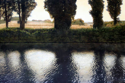 Landscape Painting - Canal St. Nazaire by Thomas Darnell