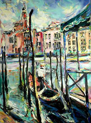 Grande Painting - Canale Grande 2 by Zofia  Kijak