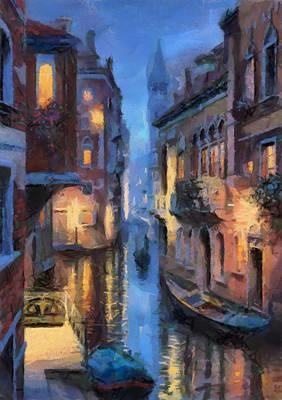 Grande Painting - Canale Venice by Georgi Dimitrov