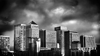 Canary Photograph - Canary Wharf London by Mark Rogan