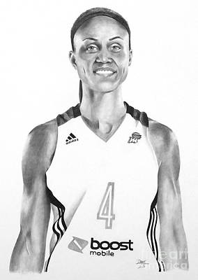 Ncaa Basketball Drawing - Candice Dupree Pree by Devin Millington