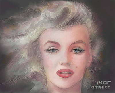 Norma Jean Drawing - Candle In The Wind... by Mark Tonelli