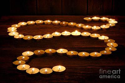 Votive Photograph - Candle Path by Olivier Le Queinec