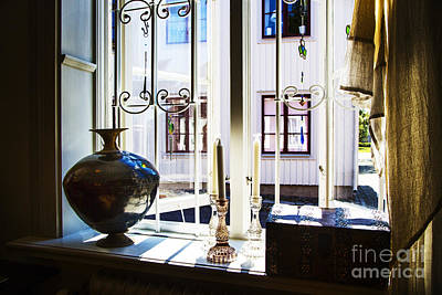 Orebro Photograph - Candle Window by Rick Bragan
