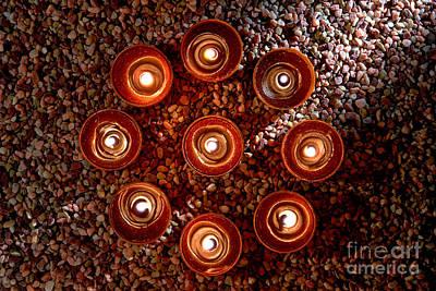 Votive Photograph - Candles Spiritual Circle by Olivier Le Queinec