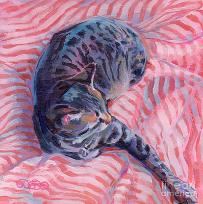 Animal Shelter Painting - Candy Cane by Kimberly Santini