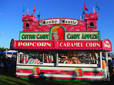 Candy Castle And Shadow People Print by Paddy Shaffer