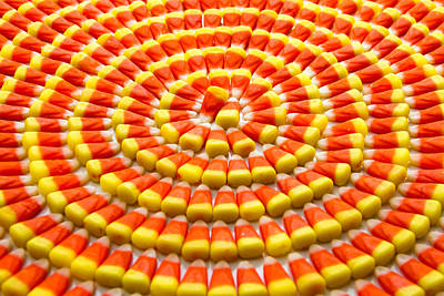 Candy Corn In Circles Original by Teri Virbickis