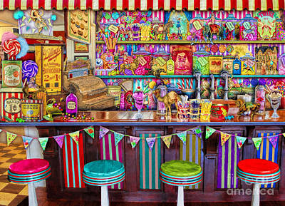 Bunting Digital Art - Candy Shop by Aimee Stewart