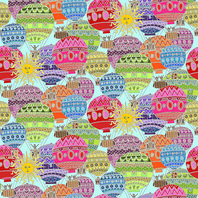 Candy Sky Print by Sharon Turner