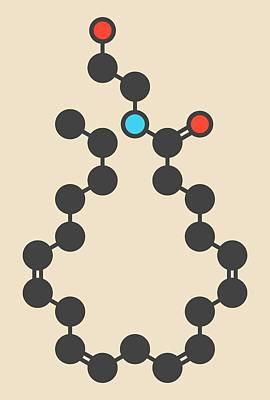 Atom Photograph - Cannabinoid Molecule by Molekuul