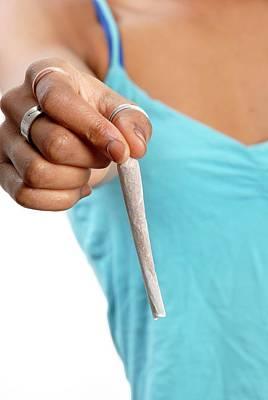 Addictive Photograph - Cannabis Cigarette by Aj Photo