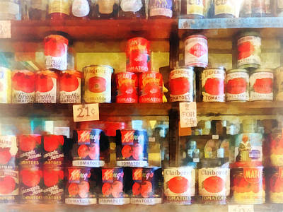 Canned Tomatoes Print by Susan Savad