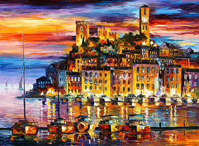 Cannes France Print by Leonid Afremov