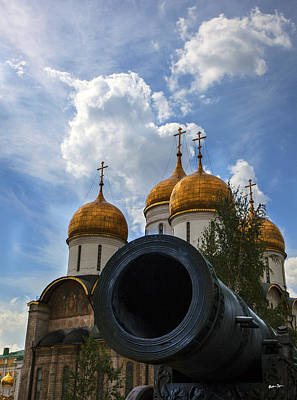 Ambiguity Photograph - Cannon And Cathedral  - Russia by Madeline Ellis