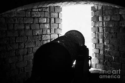 Cannon Pointing Out Of Wall Port In Fort Jefferson Dry Tortugas National Park Florida Keys Usa Print by Joe Fox