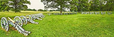 Cannons In A Park, Valley Forge Print by Panoramic Images