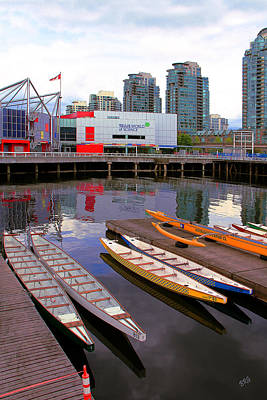 Canoe Club And Telus World Of Science In Vancouver Print by Ben and Raisa Gertsberg