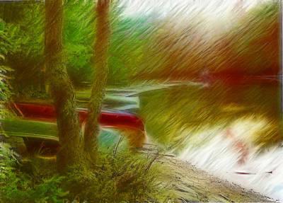 Manipulation Photograph - Canoe Lake Sonata by Mario Carini