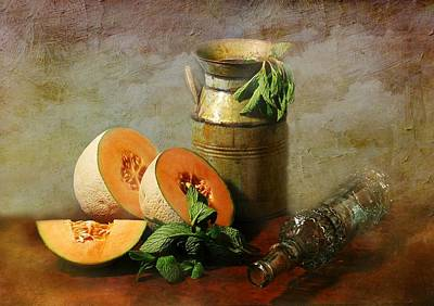 Cantaloupe Print by Diana Angstadt