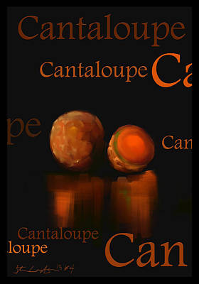 Cantaloupe - Fruit And Veggie Series - #4 Print by Steven Lebron Langston