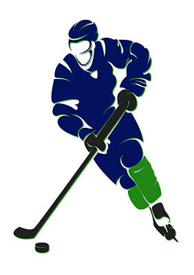 Vancouver Canucks Photograph - Canucks Shadow Player by Joe Hamilton