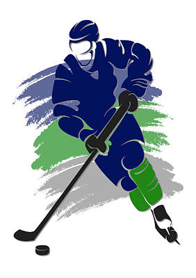 Vancouver Canucks Photograph - Canucks Shadow Player2 by Joe Hamilton