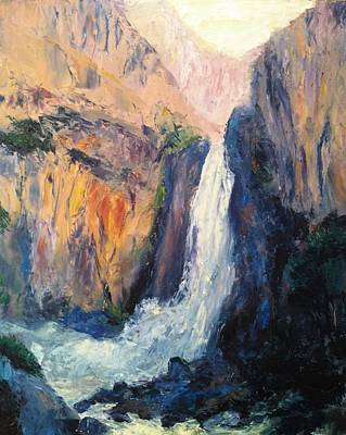 Canyon Blues Print by Gail Kirtz