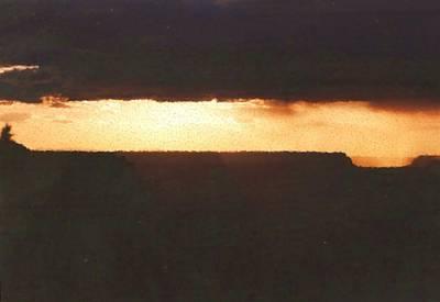 Digital Art - Canyon Edge Sunset Painting by Asbjorn Lonvig
