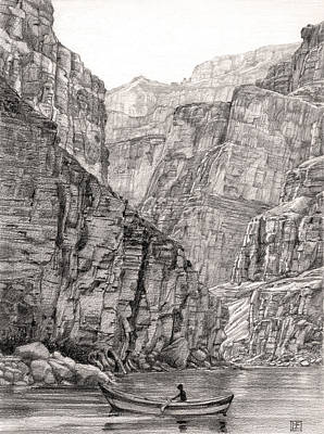Grand Canyon Drawing - Canyon Faces by Lisa Fusco