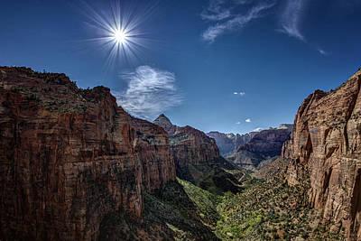 Canyon Overlook Print by Jeff Burton