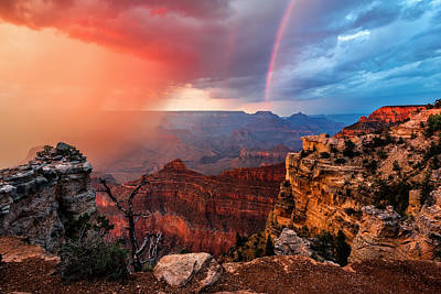 Canyon Storm Print by Guy Schmickle