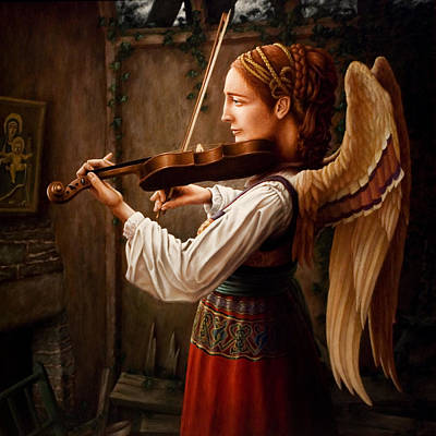 Violins Painting - Caoineadh Aingeal by Mark Zelmer