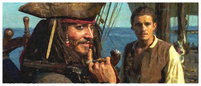 Orlando Bloom Photograph - Cap. Jack Sparrow by Himanshu  Dubey