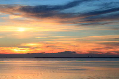 Cape Cod Bay Sunset Print by John Burk