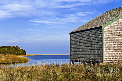 Cape Cod Boathouse Print by John Greim