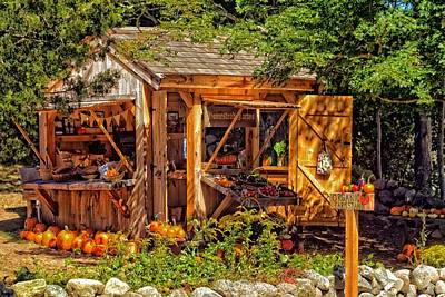 Farm Stand Photograph - Cape Cod Entrepreneurship  by Constantine Gregory