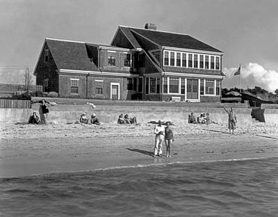 Cape Cod Photograph - Cape Cod Home by Underwood Archives